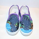 How to train your Dragon Toothless Custom Shoes by nicitadesigns