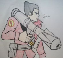 Gunter Schultz as Soldier - Re-Draw by Fil101