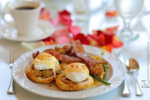 Hungry Yet?   Crab Cake Benedict by kurtywompus