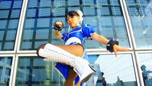 Eat My Boot! (Chun Li Street Fighter Cosplay) by Red-Crane