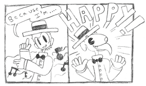 Pharrell Williams is Happy by Bunni89