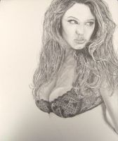 Kelly Brook WIP 4 by Anthony-Woods