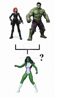 Hulk + Black Widow = She-Hulk? by KenScherer