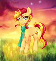 Sunset Shimmering by SugarberryArt