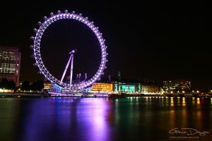 London Eye by Night by gdphotography
