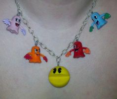 Pacman Necklace by paintmeaperfectworld