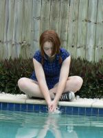 Model :Brooke playing in water by Deaths-stock