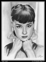 Portrait Audrey Hepburn by iSaBeL-MR