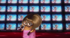 Despicable Me gif - Minion singing by AdolfWolfed4Life