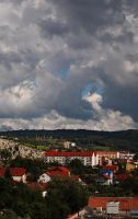 Cluj and its vivid clouds by RetardSock