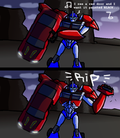 Optimus Wants It Painted Black by caboosemcgrief