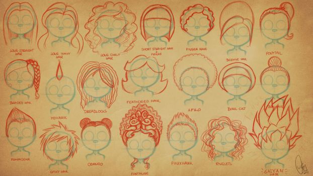 How Do I Scribble - Hairs (EXAMPLES) by ScribbleNetty
