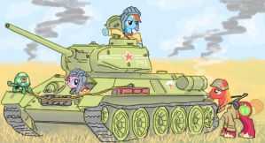 Rainbow Dash's T-34 by ColorCopyCenter