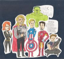 Earth's Mightiest Heroes by lalenca