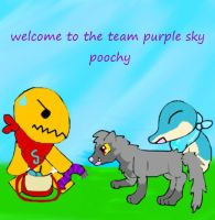 welcomw to the team poochy by aikadarkdragon