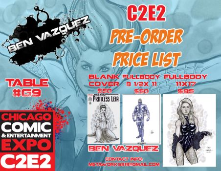 C2E2 Con sketch Pre-Orders 2016 by MetaWorks