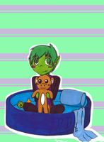 Beast boy:This my bed by Soulskey