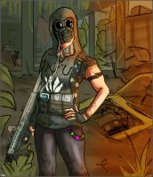 Post-Apoc Hipster Girl by CrisisOmega