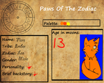New OC for Paw-Of-The-Zodiac by Fire-of-Fall
