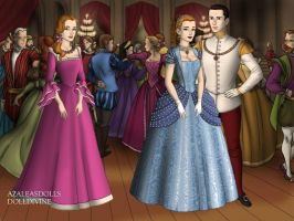 Cinderella and Prince Charming Tudor Style by TFfan234