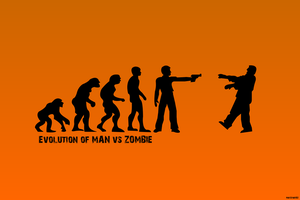 Evolution of Man Vs. Zombie by matstar102