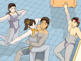 Swimming pool - Water sport squad by VachalenXEON