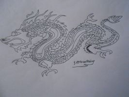 Chinese Dragon (line art) by Spyroconvexity