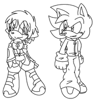 Casey and Jesse Line Art by Keeshii-Mirun