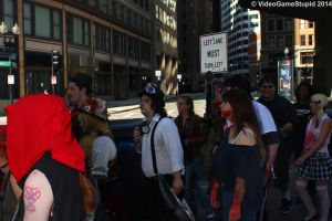 Boston Zombie March 2014 - Zombie March 16 by VideoGameStupid
