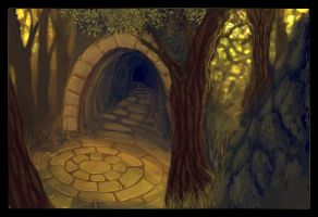 Forest hideout -Speedpainting- by Rosherrim-girl