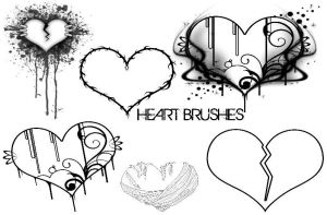 Heart Brushes by AskingMyValentine
