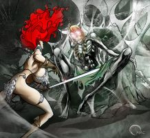 Red Sonja Crypt by O-mac