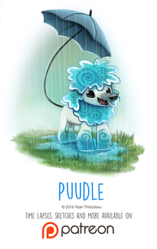 Day 1422. Puudle by Cryptid-Creations