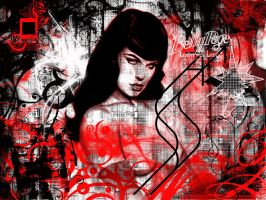 Betty Page in Grunge by juanpablokmx