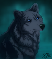 Wolfs Rain Blue by TheMysticWolf