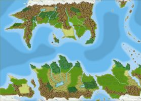 Map of Pern by Oracle-The
