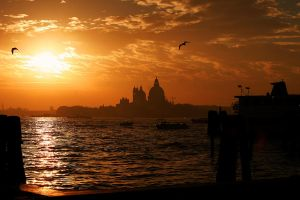 Venice at Sunset by rocketpop