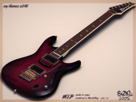 my IBANEZ S540 wip by B0R
