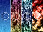 4 Abstract Backgrounds by xara24