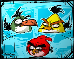 Angry Birds by DollCreep