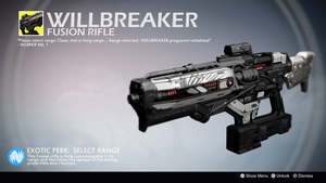 Willbreaker (Exotic Fusion Rifle Concept) by Rageblade66