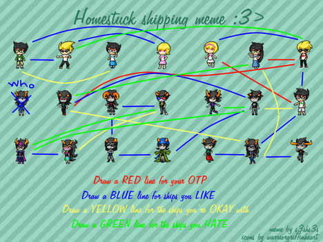 Homestuck Shipping Meme (YEP I WENT THERE) by Petpettails123