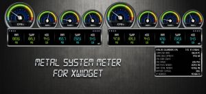 Metal System Meter for xwidget by jimking