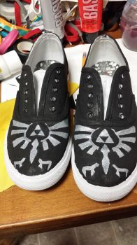 Hyrule Emblem Canvas Shoes by SlinkyInk