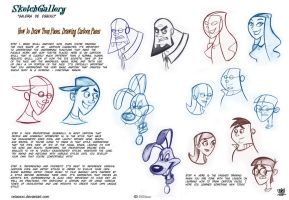 How to DrawToon Faces, Drawing Cartoon Faces by celaoxxx