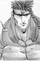 Solid Snake MGS1 quick sketch by Vladsnake