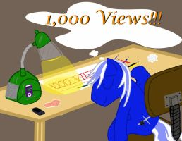 1,000 Views! Thanks everypony! by Brony-327