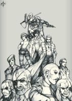 Cast of Metal Gear: WIP by AenTheArtist