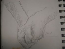 Jared's Hands by InsanePaintStripes
