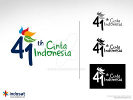 logo 41th indosat by idhuy
